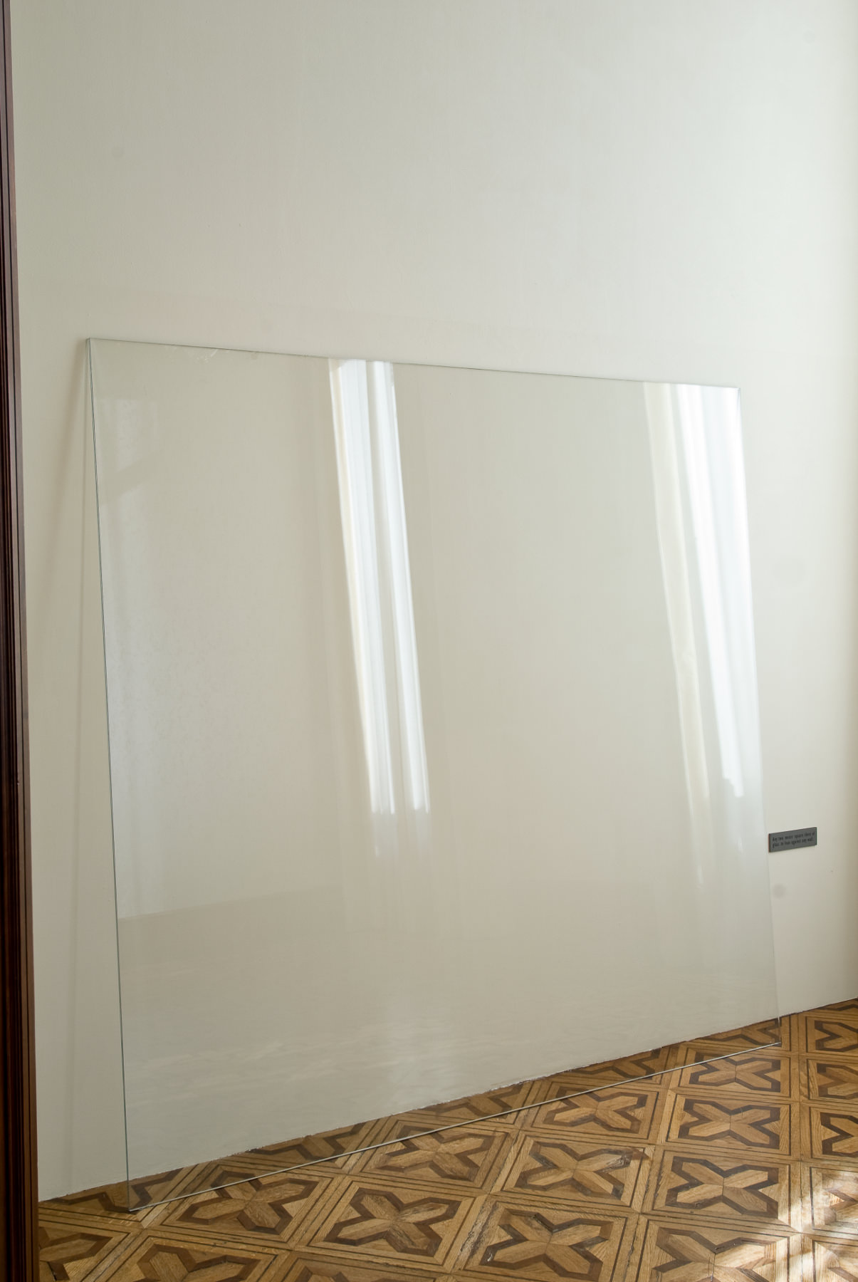 Joseph Kosuth - Any two Meter Square Sheet of Glass to Lean Against any Wall